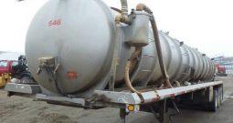 2012 CENTURY 7,000 GALLON STAINLESS STEEL VACUUM TRAILER- CHALLENGER PUMP- TRI AXLE- AIR RIDE SUSPENSION-  IN BISMARCK, ND